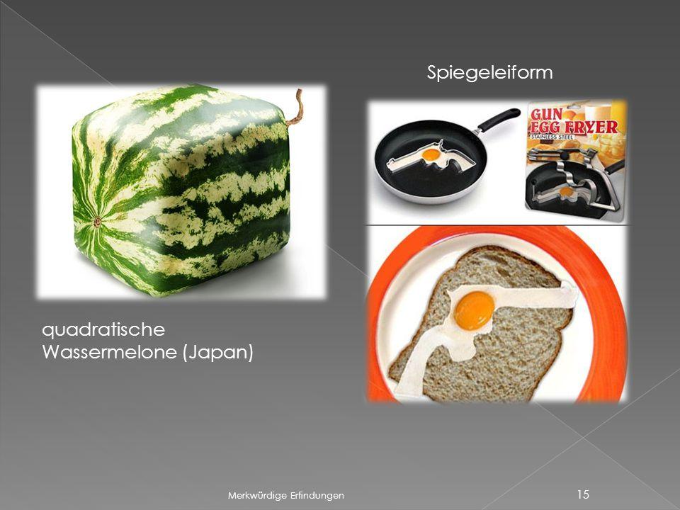 Spiegeleiform quadratische Wassermelone (Japan)
