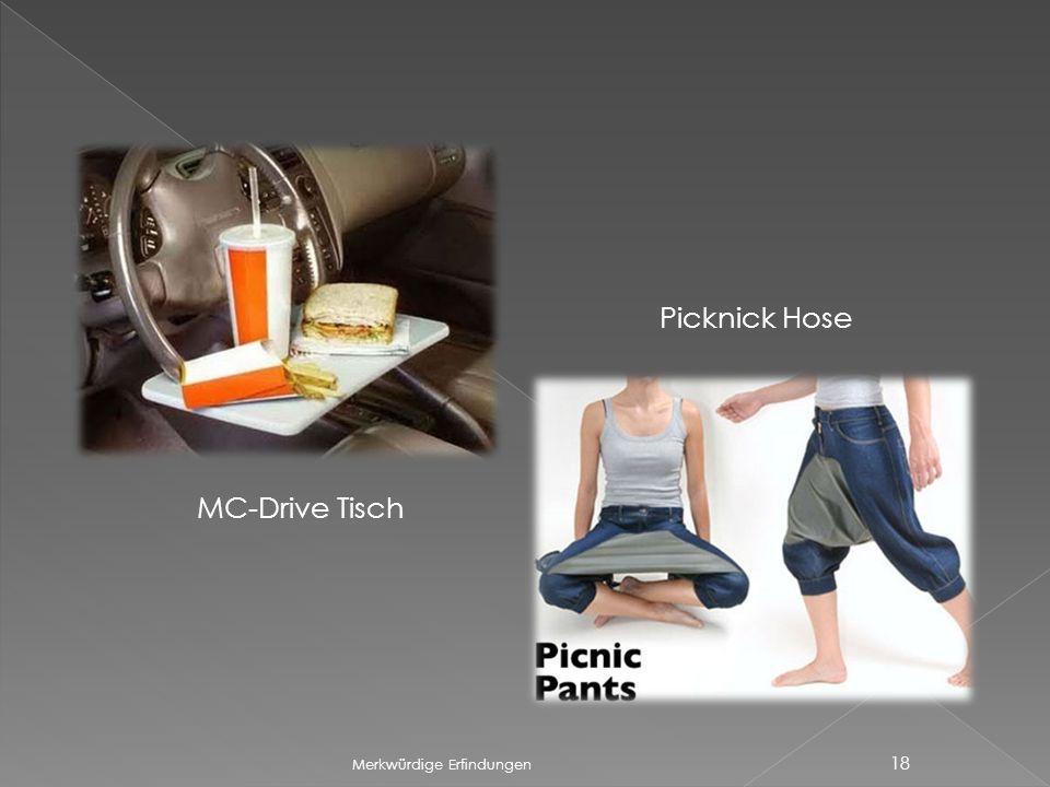 Picknick Hose MC-Drive Tisch Merkwürdige Erfindungen