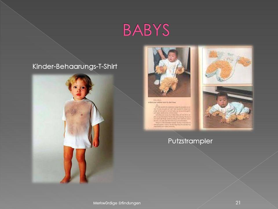 BABYS Kinder-Behaarungs-T-Shirt Putzstrampler Merkwürdige Erfindungen