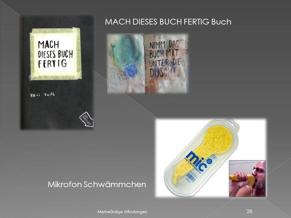 MACH DIESES BUCH FERTIG Buch