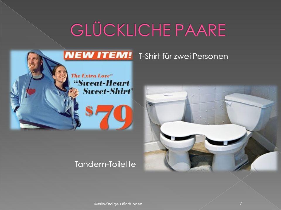GLÜCKLICHE PAARE T-Shirt für zwei Personen Tandem-Toilette