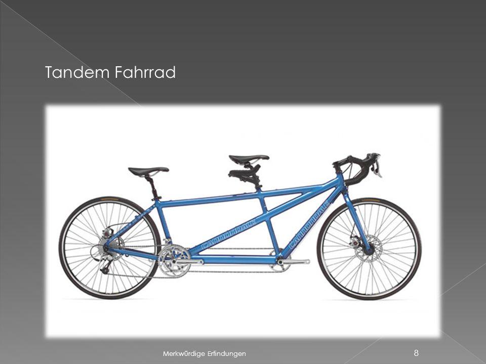 Tandem Fahrrad Merkwürdige Erfindungen