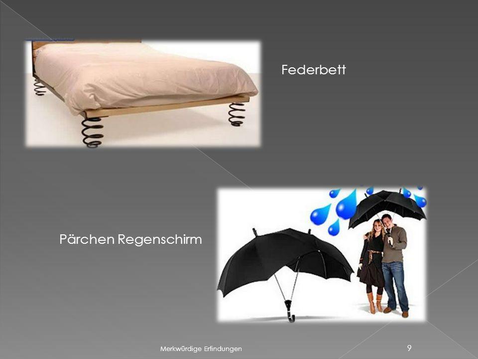 Federbett Pärchen Regenschirm Merkwürdige Erfindungen