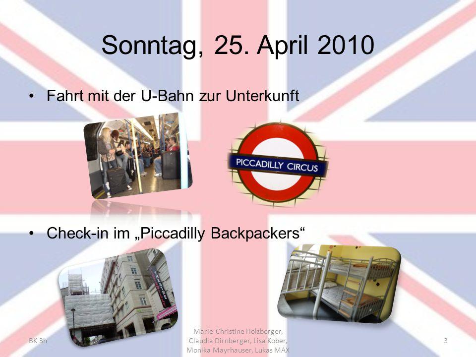 Sonntag, 25. April 2010 Fahrt mit der U-Bahn zur Unterkunft