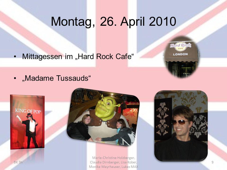 "Montag, 26. April 2010 Mittagessen im ""Hard Rock Cafe"