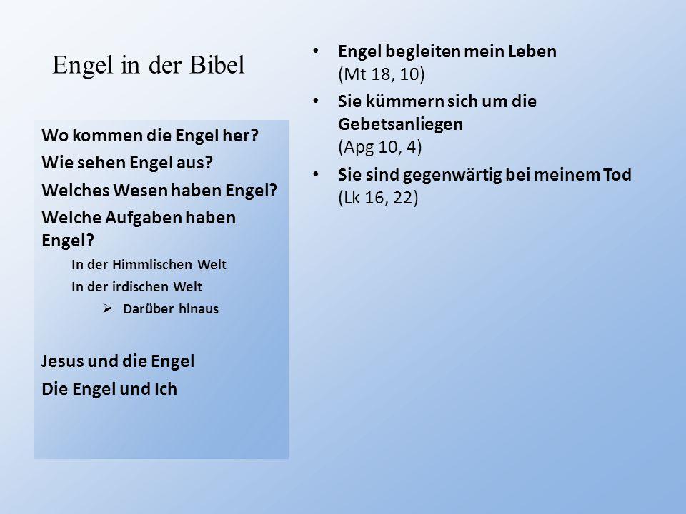 Engel in der Bibel Engel begleiten mein Leben (Mt 18, 10)