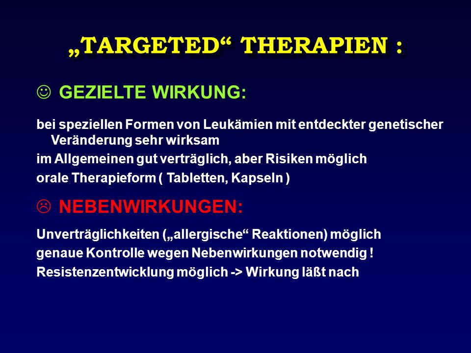 """TARGETED THERAPIEN :"