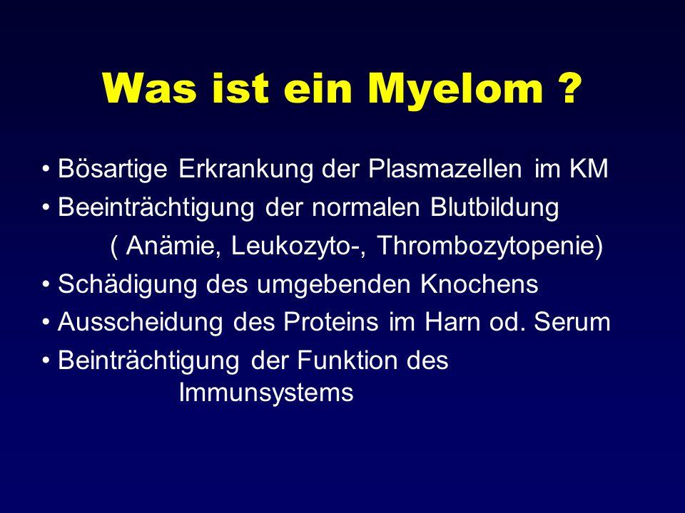 Was ist ein Myelom Bösartige Erkrankung der Plasmazellen im KM