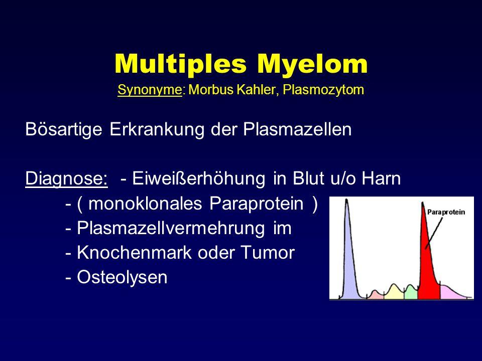 Synonyme: Morbus Kahler, Plasmozytom