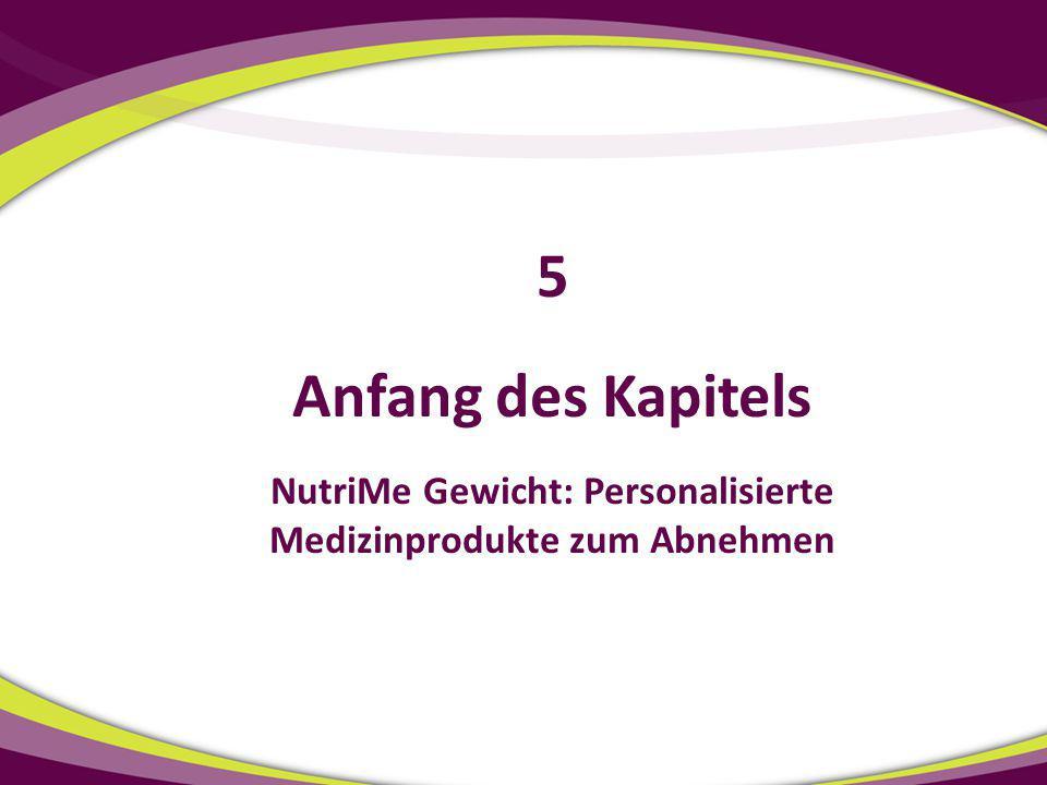 NutriMe Gewicht: Personalisierte Medizinprodukte zum Abnehmen