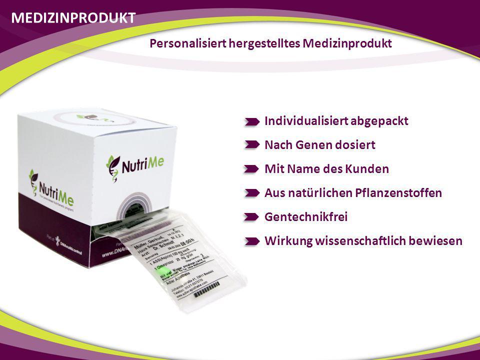 Personalisiert hergestelltes Medizinprodukt