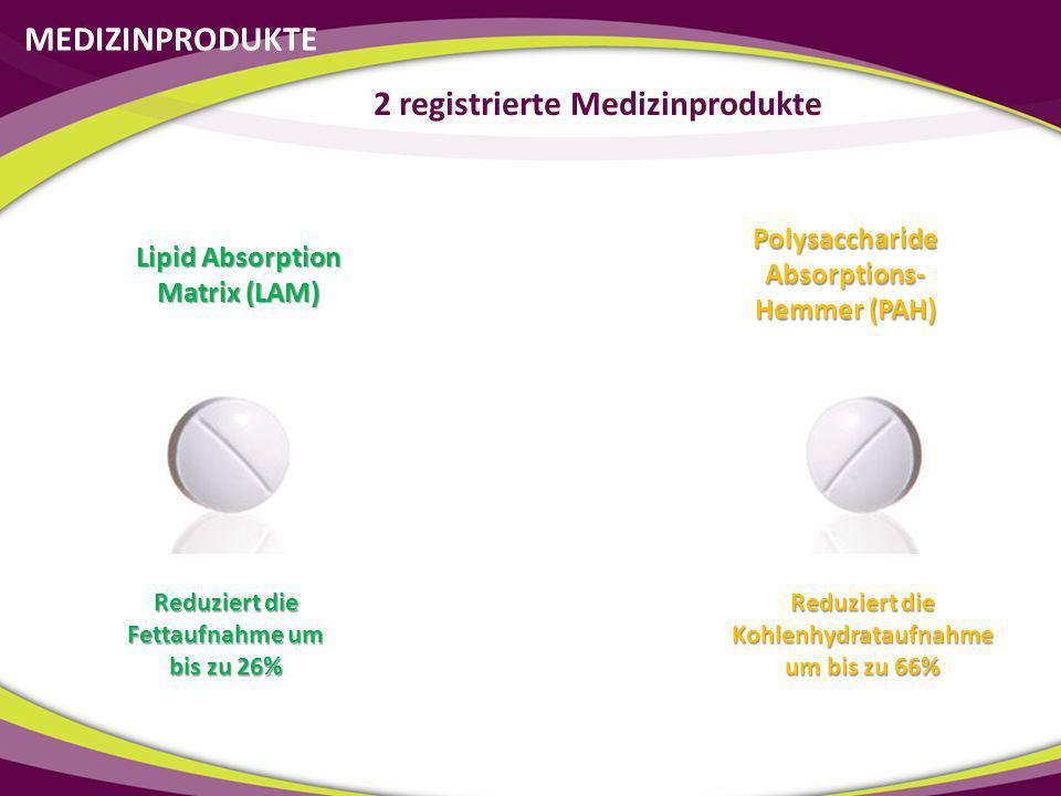 2 registrierte Medizinprodukte