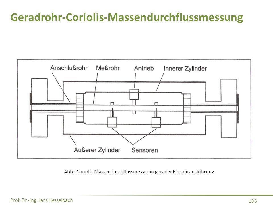 Geradrohr-Coriolis-Massendurchflussmessung