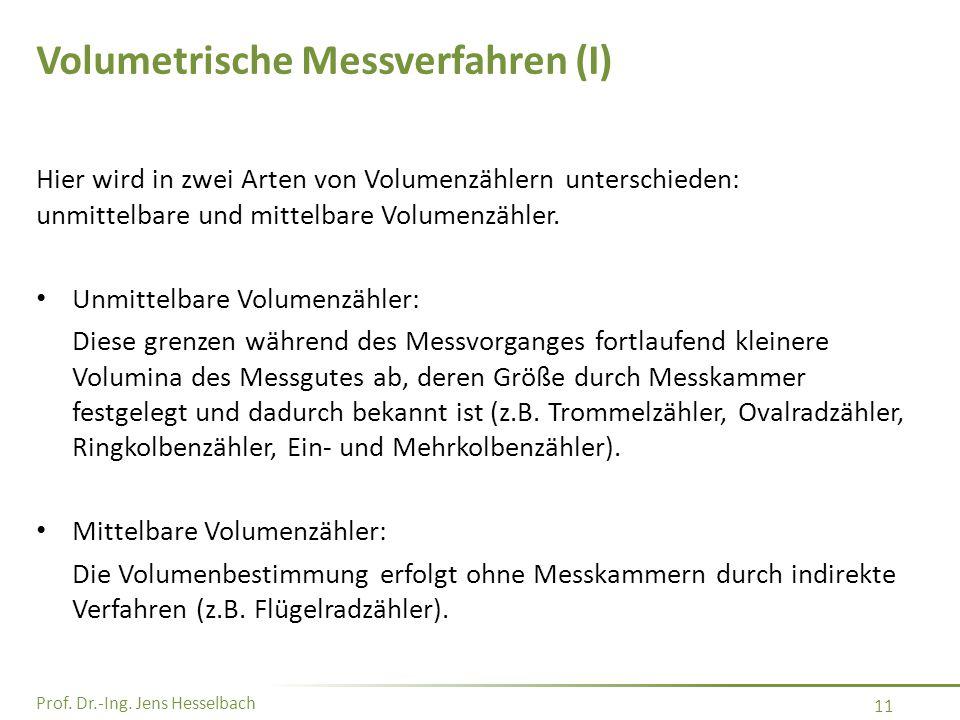 Volumetrische Messverfahren (I)
