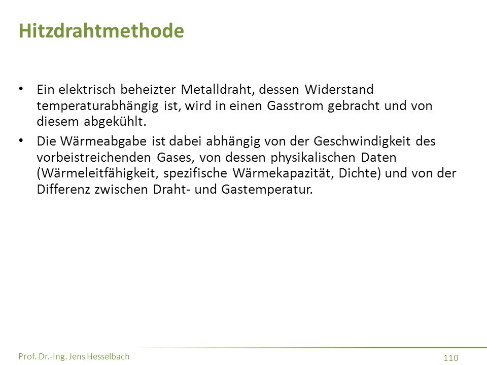Hitzdrahtmethode