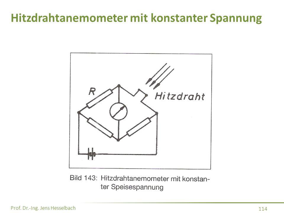 Hitzdrahtanemometer mit konstanter Spannung