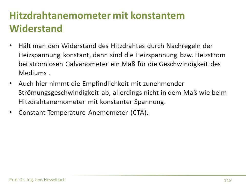 Hitzdrahtanemometer mit konstantem Widerstand
