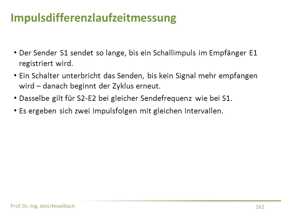 Impulsdifferenzlaufzeitmessung