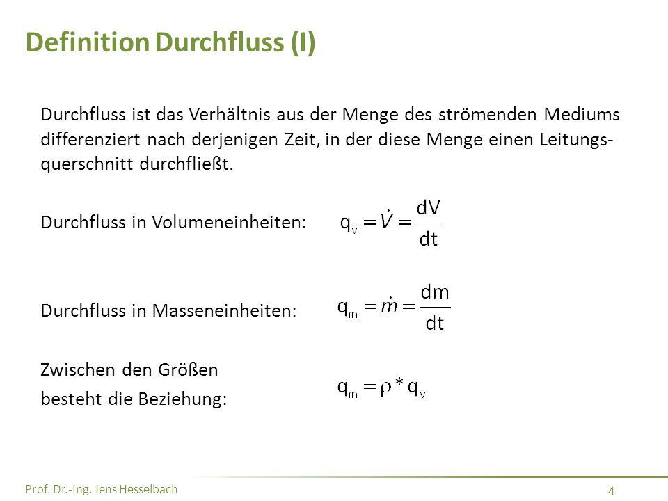 Definition Durchfluss (I)