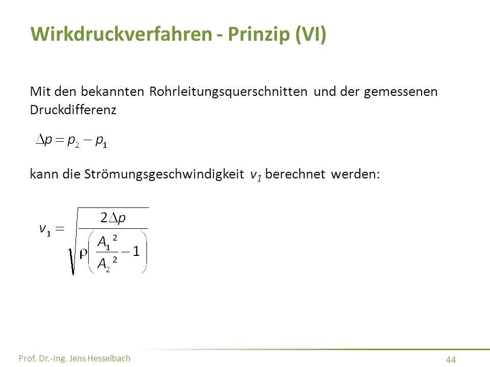 Wirkdruckverfahren - Prinzip (VI)