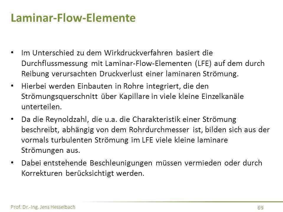 Laminar-Flow-Elemente