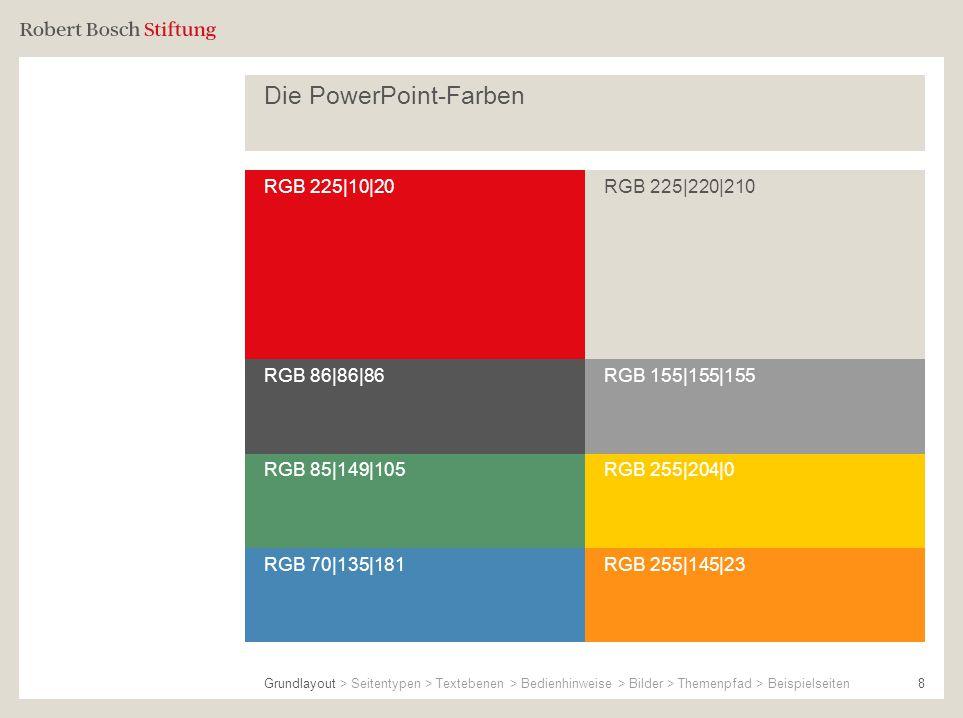 Die PowerPoint-Farben