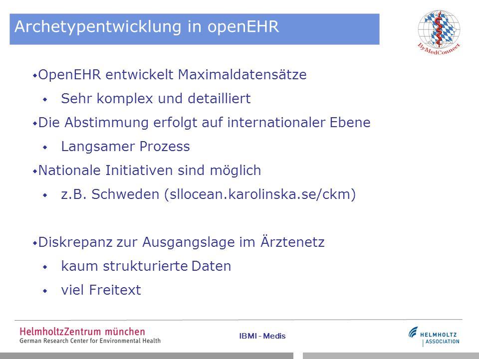 Archetypentwicklung in openEHR