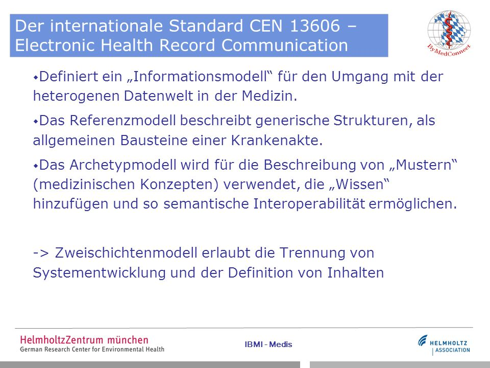 Der internationale Standard CEN 13606 – Electronic Health Record Communication