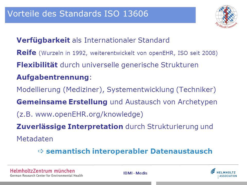 Vorteile des Standards ISO 13606