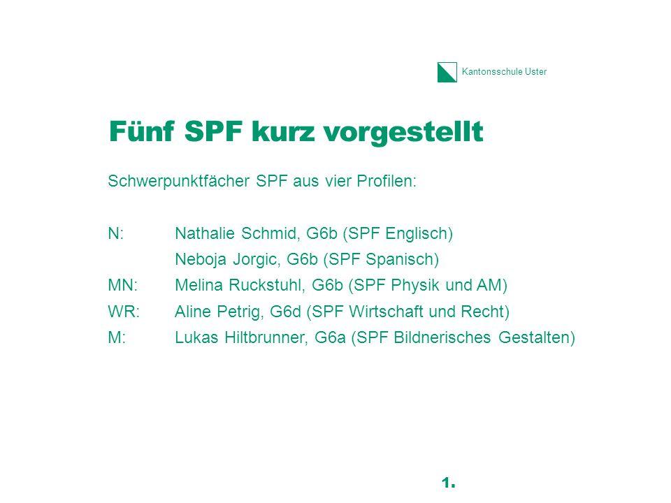 Fünf SPF kurz vorgestellt