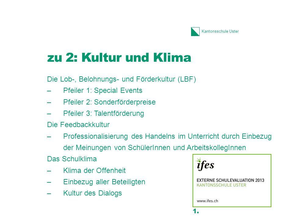 zu 2: Kultur und Klima Die Lob-, Belohnungs- und Förderkultur (LBF)