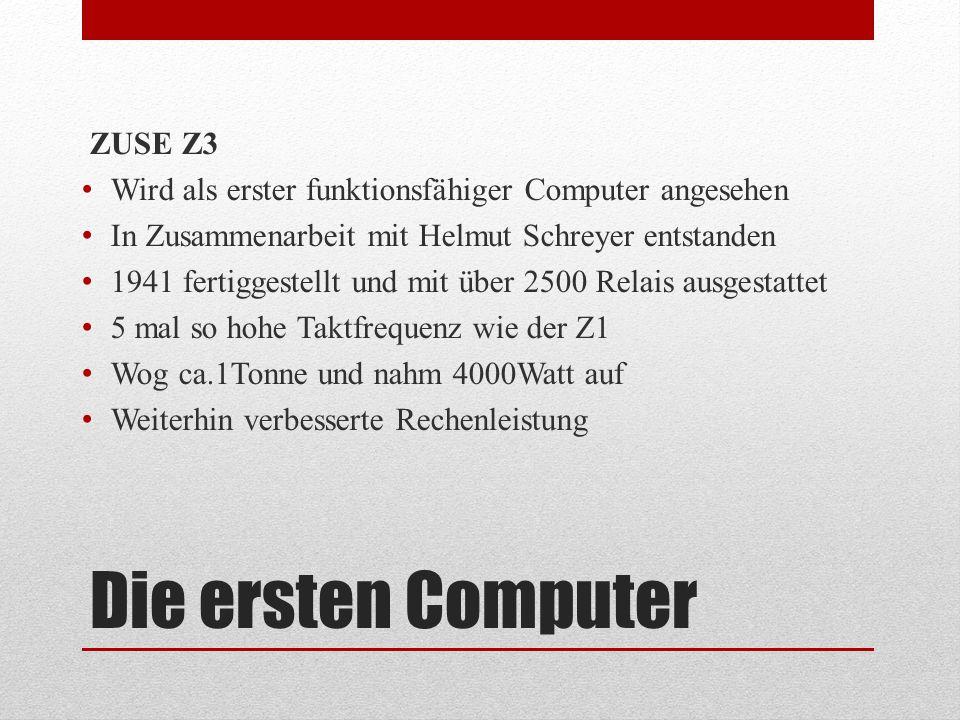 Die ersten Computer ZUSE Z3