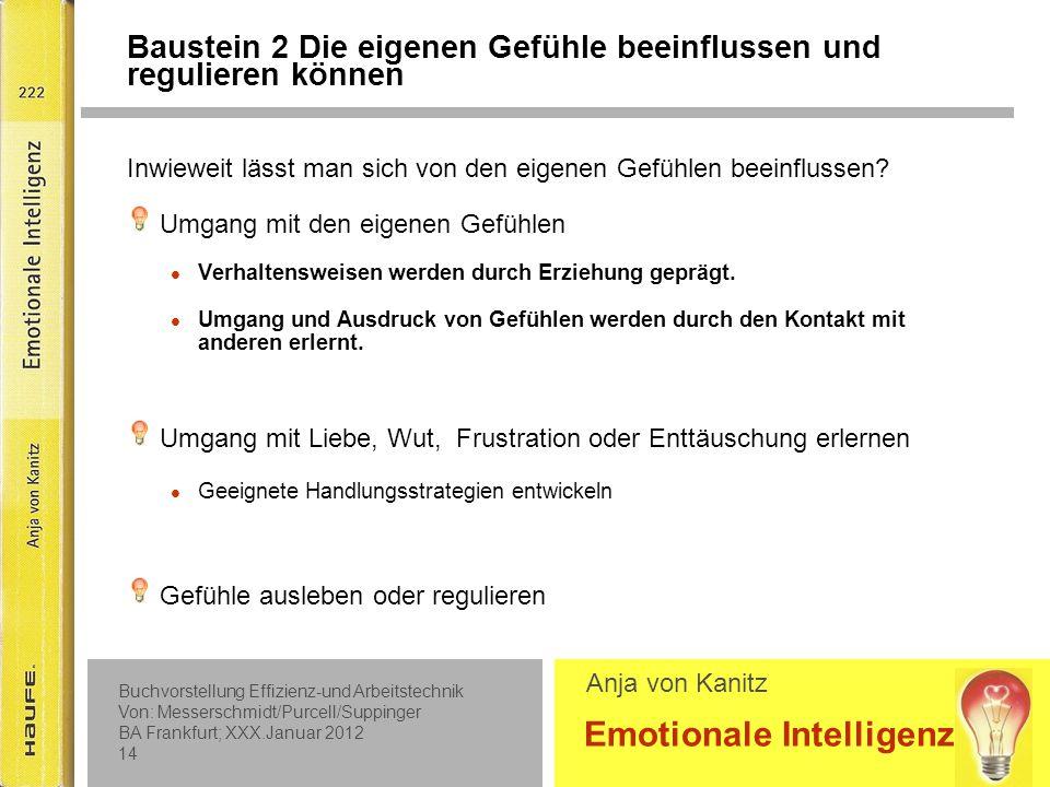 Baustein 2 Beispiel für Angst: die lieben Kollegen S. 42 Beispiel für Wut und Ärger: außerplanmäßiger Halt S. 102.