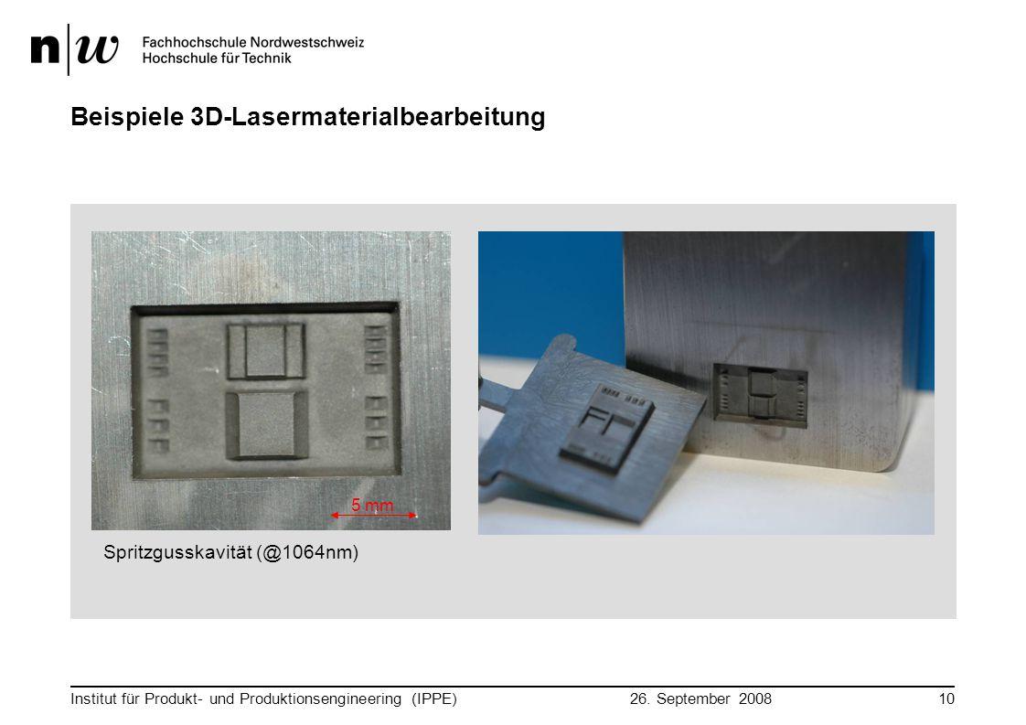Beispiele 3D-Lasermaterialbearbeitung