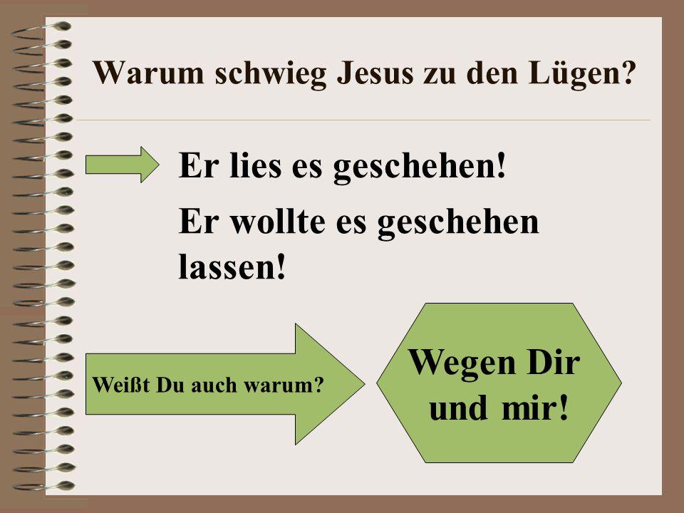 Warum schwieg Jesus zu den Lügen