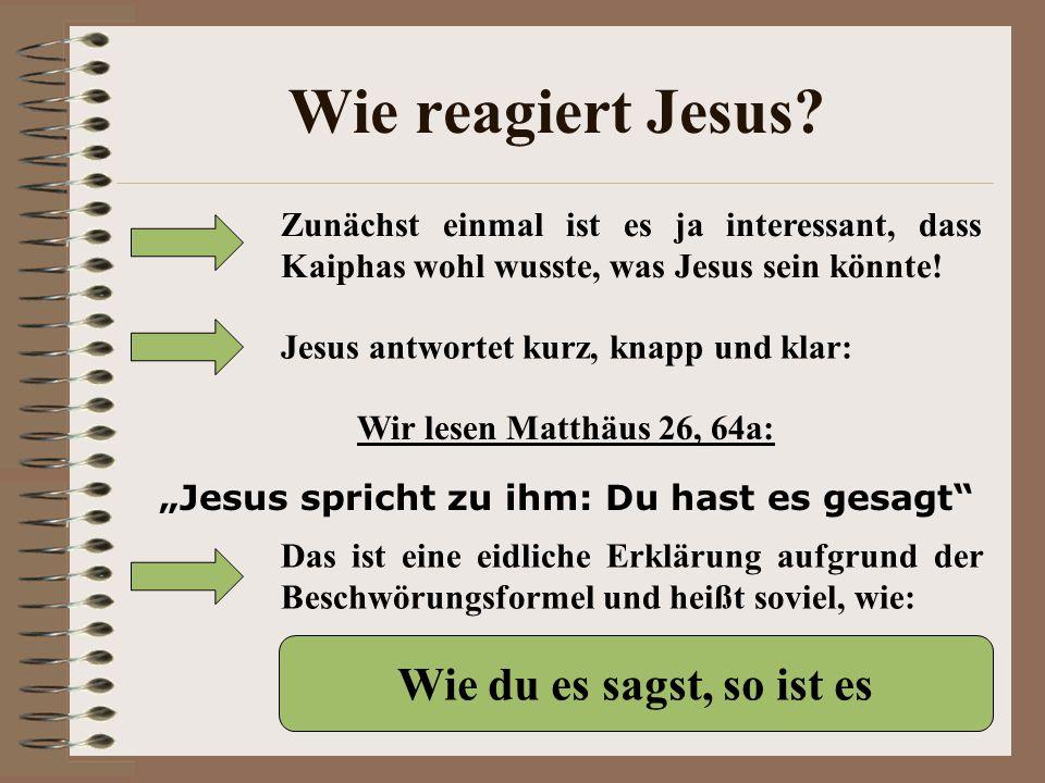 """""""Jesus spricht zu ihm: Du hast es gesagt"""