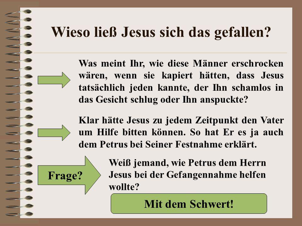 Wieso ließ Jesus sich das gefallen