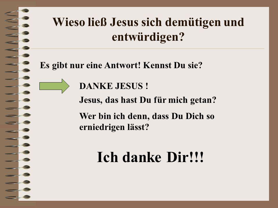 Wieso ließ Jesus sich demütigen und entwürdigen