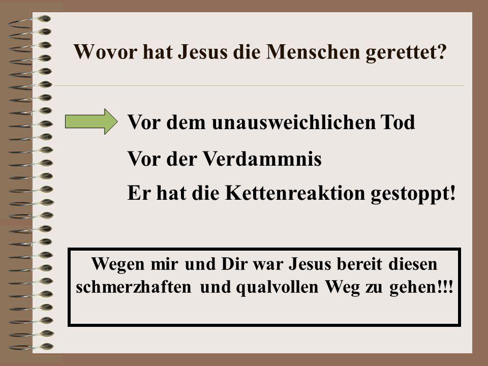 Wovor hat Jesus die Menschen gerettet