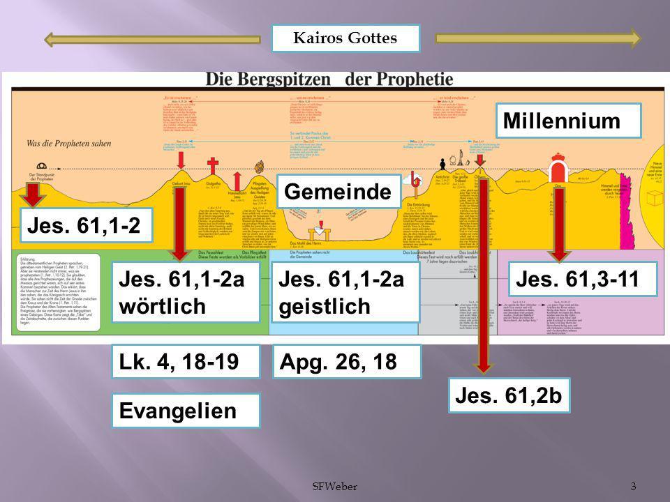 Millennium Gemeinde Jes. 61,1-2 Jes. 61,1-2a wörtlich Jes. 61,1-2a