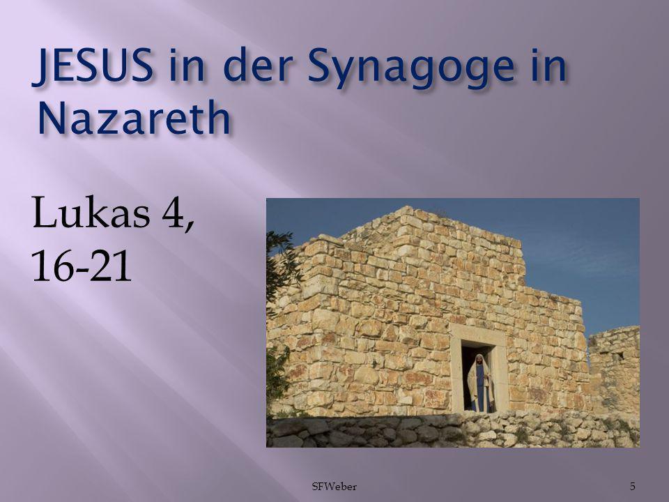 JESUS in der Synagoge in Nazareth