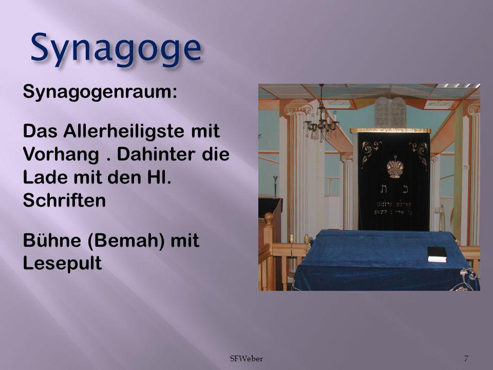 Synagoge Synagogenraum: