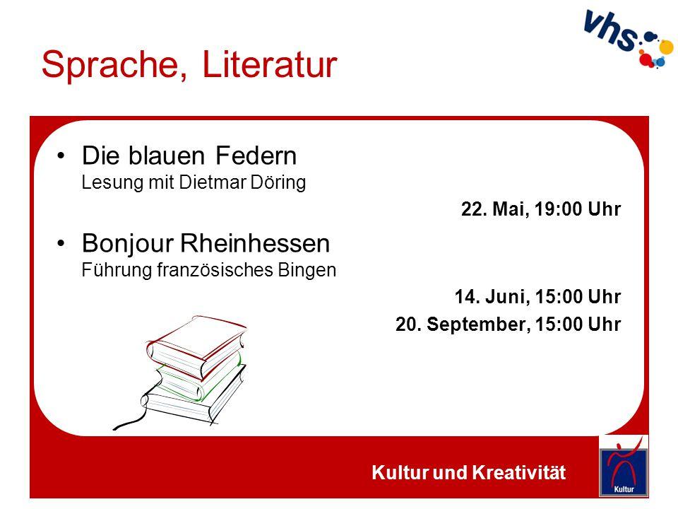 Sprache, Literatur Die blauen Federn Lesung mit Dietmar Döring