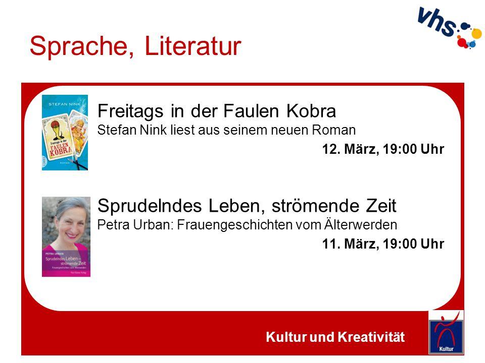 Sprache, Literatur Freitags in der Faulen Kobra Stefan Nink liest aus seinem neuen Roman. 12. März, 19:00 Uhr.
