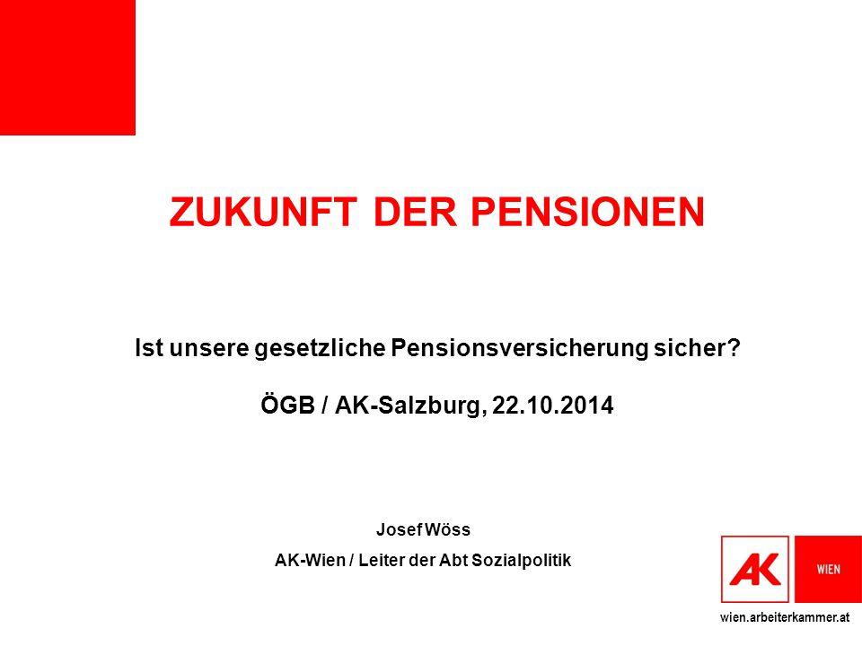 Josef Wöss AK-Wien / Leiter der Abt Sozialpolitik