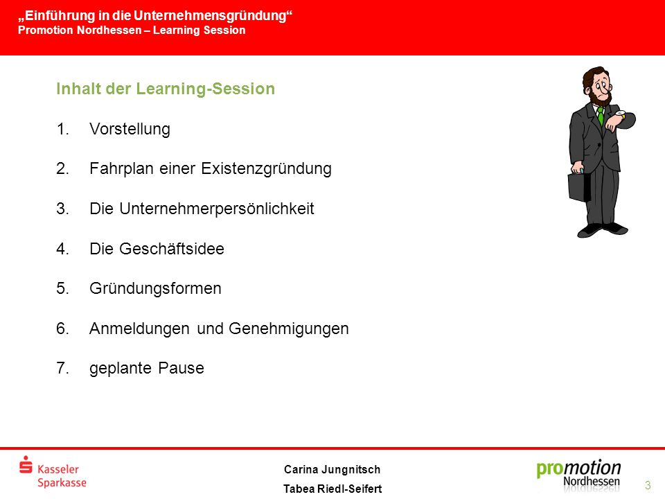 Inhalt der Learning-Session