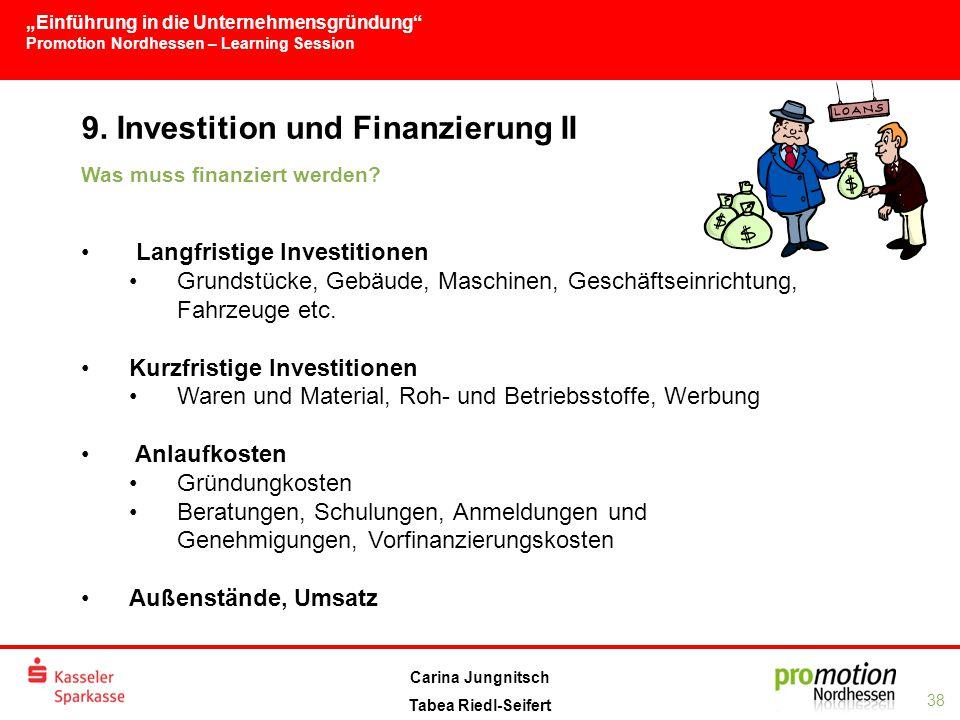 9. Investition und Finanzierung II