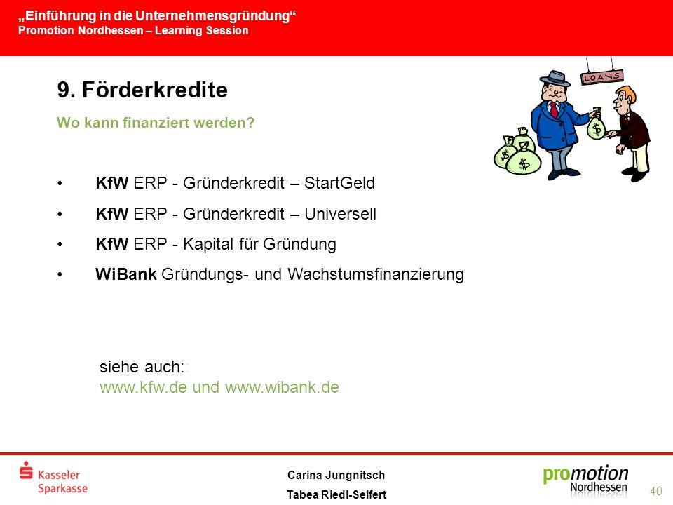 9. Förderkredite KfW ERP - Gründerkredit – StartGeld