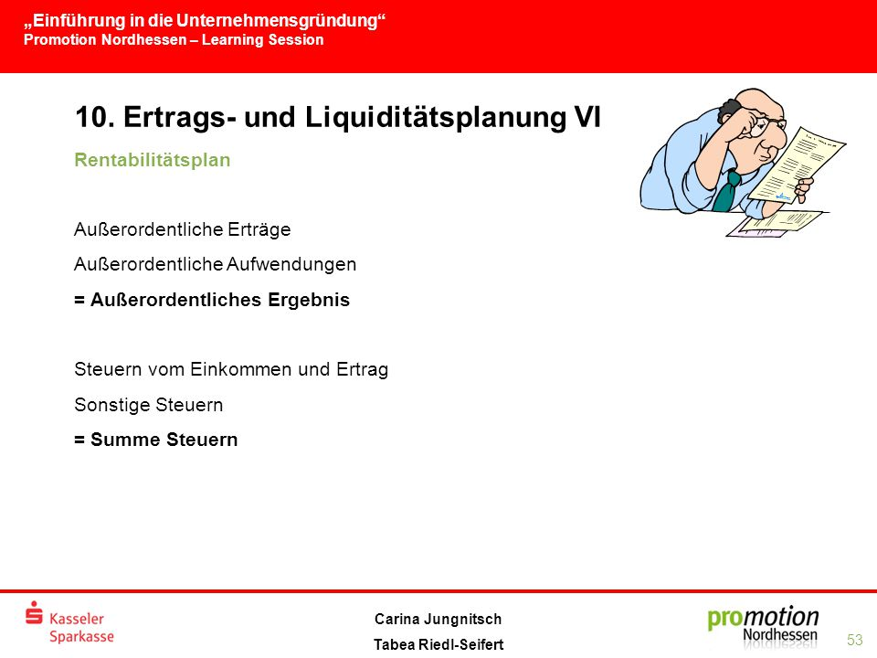 10. Ertrags- und Liquiditätsplanung VI
