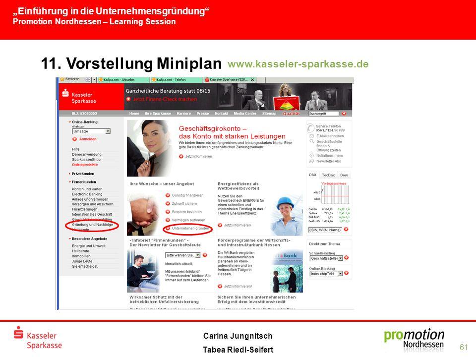 11. Vorstellung Miniplan www.kasseler-sparkasse.de